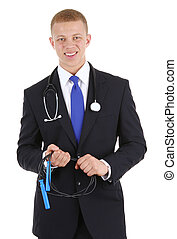 Doctor with a skipping rope