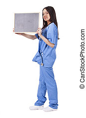 doctor with blackboard