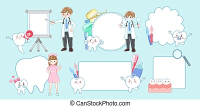 doctor with cartoon tooth