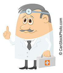 Doctor with case