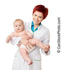 Doctor with cute baby