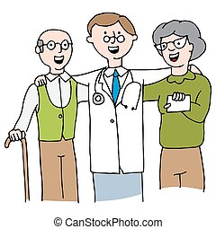 Doctor with Elderly Couple