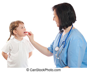 Doctor with girl