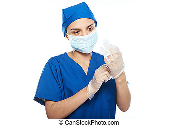 doctor with gloves