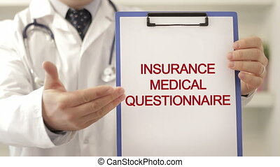 Doctor with insurance