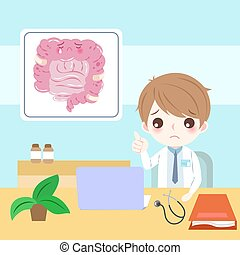 doctor with intestine
