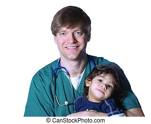 Doctor with little patient