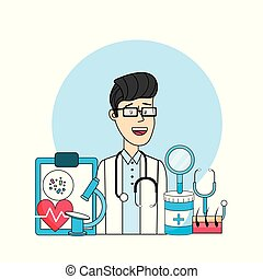 doctor with medical diagnosis treatment prevention