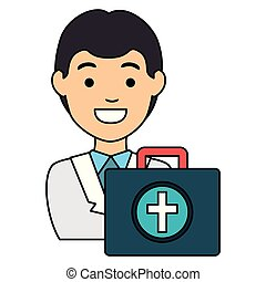 doctor with medical kit avatar character