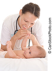 Doctor with newborn child