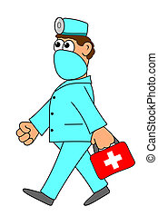 doctor with red case