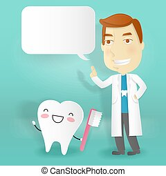 doctor with tooth health concept