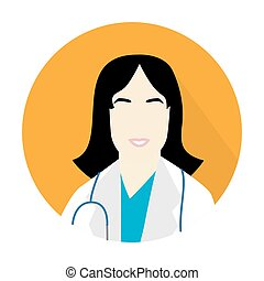 doctor woman icon