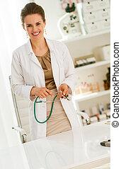 doctor woman in office