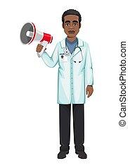 Doctor working during coronavirus outbreak Covid-19