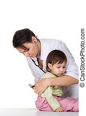 doctor works with kid