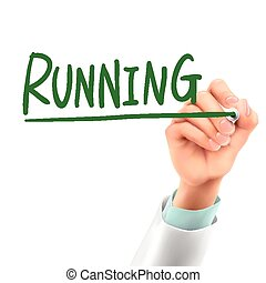 doctor writing running word