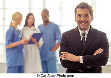 Doctors and businessman