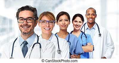 doctors and nurses group