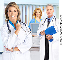 doctors and nurses - Smiling medical people with ...