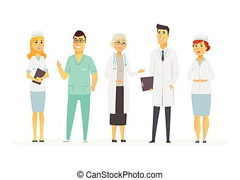 Doctors - cartoon people characters isolated illustration on...