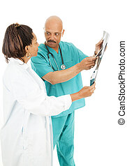 Doctors Discuss X-Ray Results