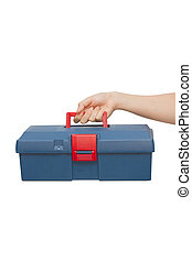 Doctor's hand holds emergency box
