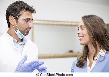 Doctors in dentist office