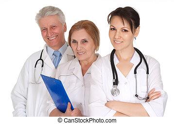 Doctors in office