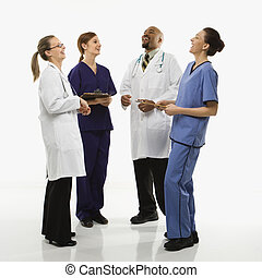Doctors laughing.