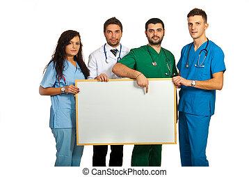 doctors, tabla, tenencia, blanco