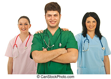 Doctors team cooperation