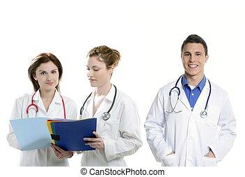 Doctors teamwork, health professional people