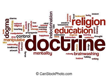 Doctrine word cloud concept