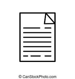 documen vector design template illustration