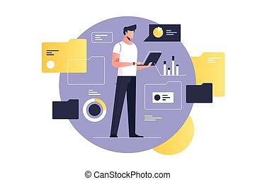 document, électronique, gestion
