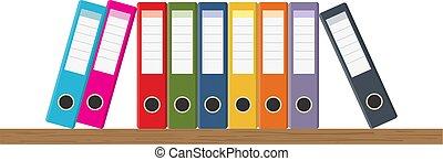 document, étagères, stockage