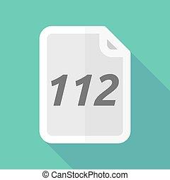 document, 112, ombre, long, texte