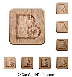 Document accepted wooden buttons