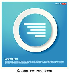 Document align icon Abstract Blue Web Sticker Button