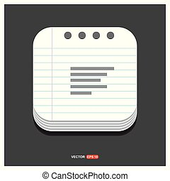 Document align icon Gray icon on Notepad Style template Vector EPS 10 Free Icon