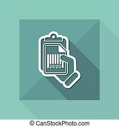 Document and barcode - Vector icon