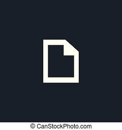 Document black blank page icon .