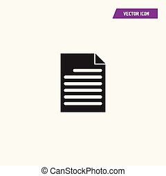 Document black blank page icon.
