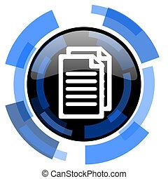 document black blue glossy web icon