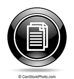 document black glossy icon