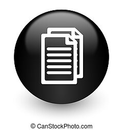 document black glossy internet icon