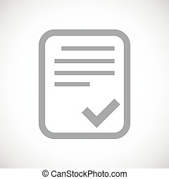 Document black icon