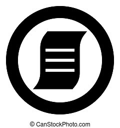 Document black icon in circle