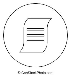 Document black icon outline in circle image
